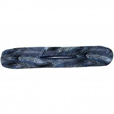 Chignon magique bleu motif feuilles