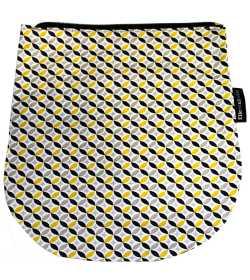Rabat jaune et noir pour sac bandoulière à rabat amovible