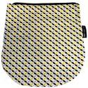 Rabat jaune et noir pour sac à rabat amovible