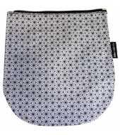 Rabat gris pour sac bandoulière à rabat amovible