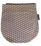 Rabat framboise et vert pour sac bandoulière à rabat amovible