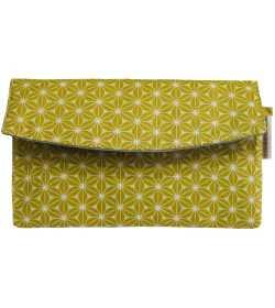 Portefeuille fantaisie femme coton enduit jaune