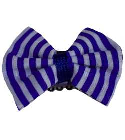 Barrette anti glisse rayée bleu et blanc