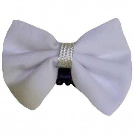 Barrette anti glisse blanche pour tenue de cérémonie bébé