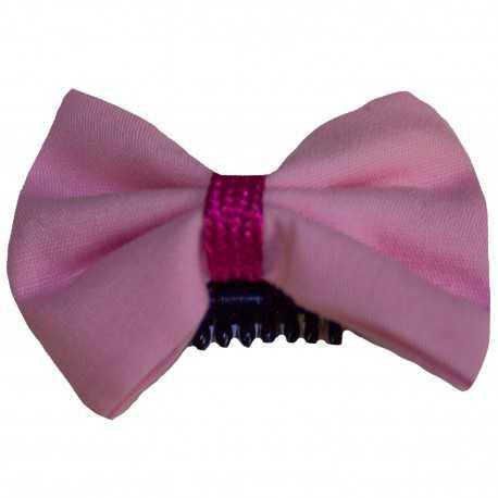 Barrette bébé anti glisse rose pour tenue de cérémonie
