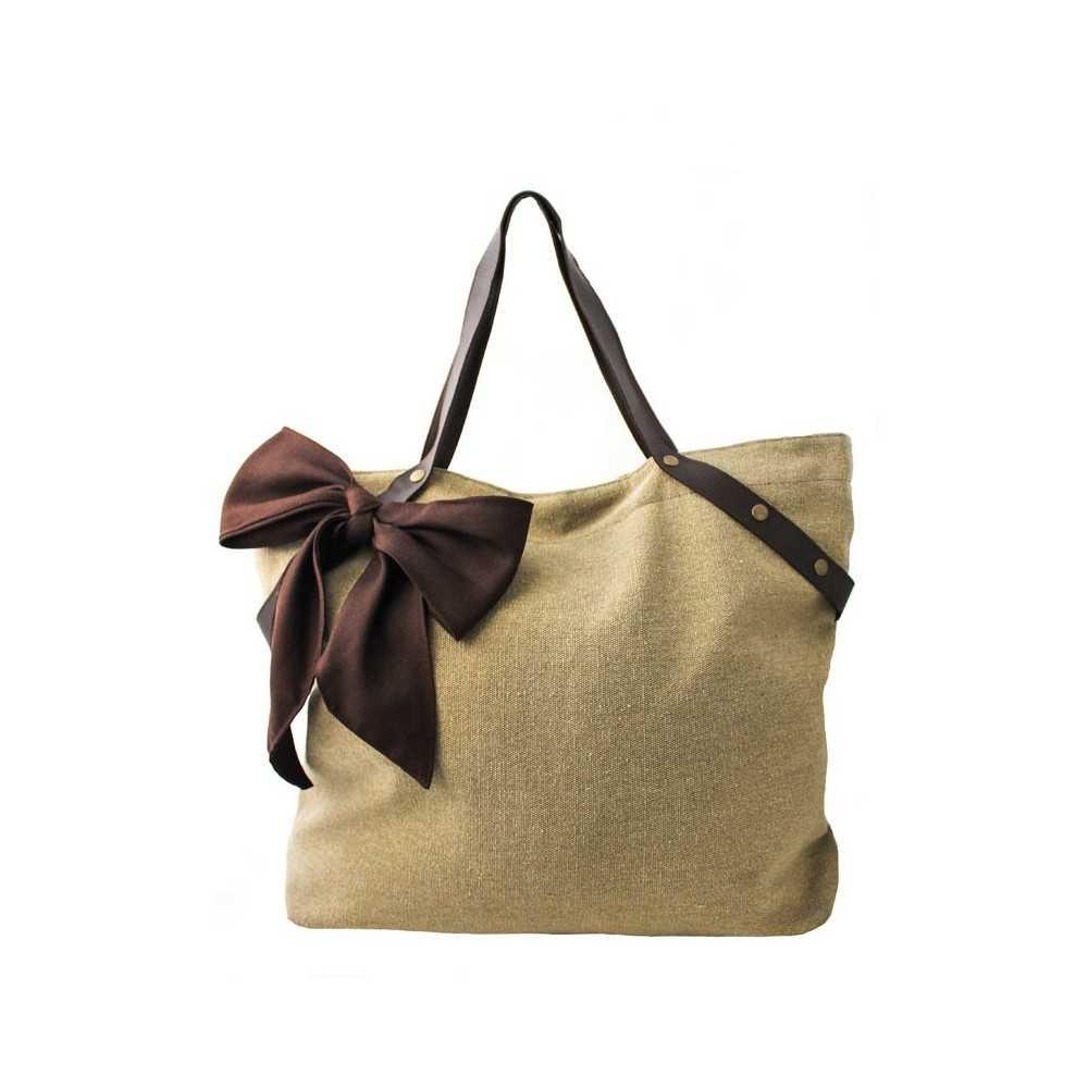 Grand sac à main camel