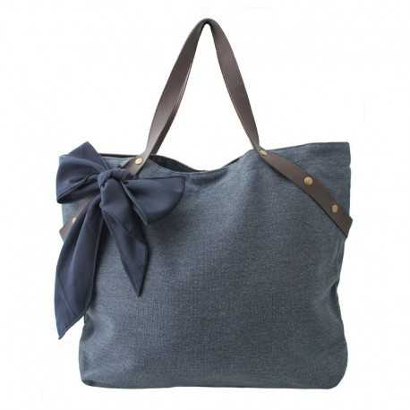 Grand sac à main bleu jean