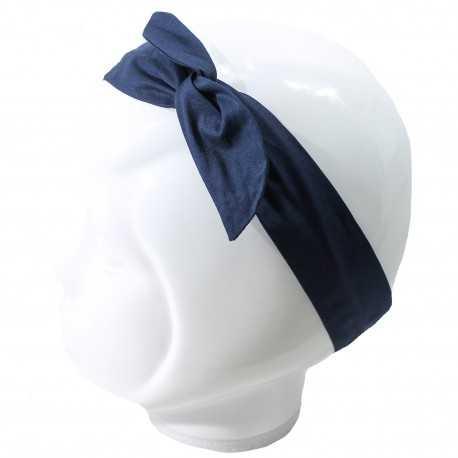 Bandeau cheveux femme bleu marine