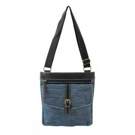 Pochette bandoulière bleu jean