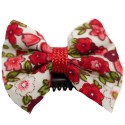 Barrette anti glisse liberty rouge et blanc