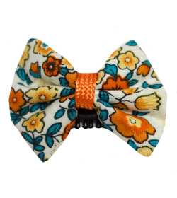 Barrette cheveux bébé anti glisse liberty orange