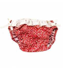 Maillot de bain 1 pièce liberty rouge
