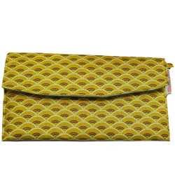 Portefeuille jaune queue de paon