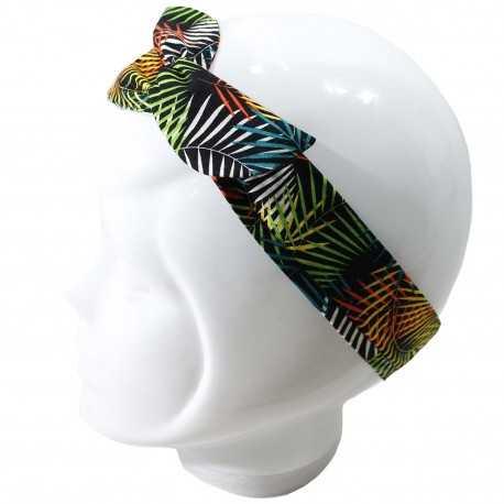 Bandeau cheveux femme feuillage multicolore