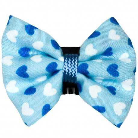 Barrette cheveux bébé anti glisse coeurs bleus