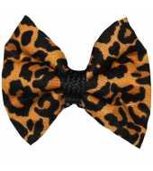 Barrette bébé anti glisse léopard marron