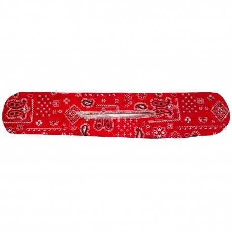 Chignon magique bandana rouge
