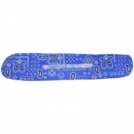 Chignon magique bandana bleu