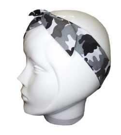 Bandeau magique camouflage gris