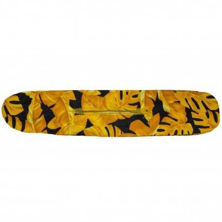 Bandeau chignon magique feuilles tropicales jaunes