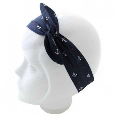 Bandeau magique bleu motif marin