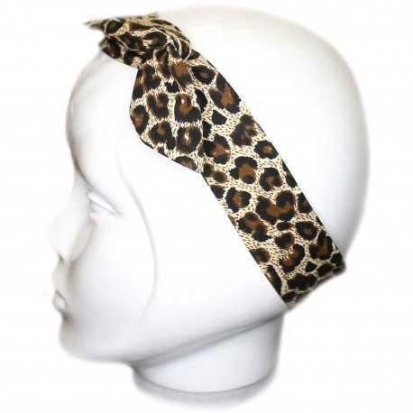 Bandeau cheveux léopard