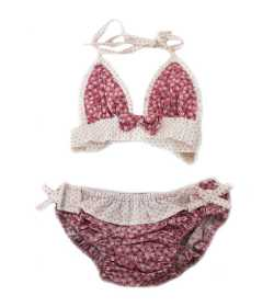Maillot de bain fille liberty rose pâle 2 pièces