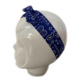 Bandeau magique bandana bleu marine