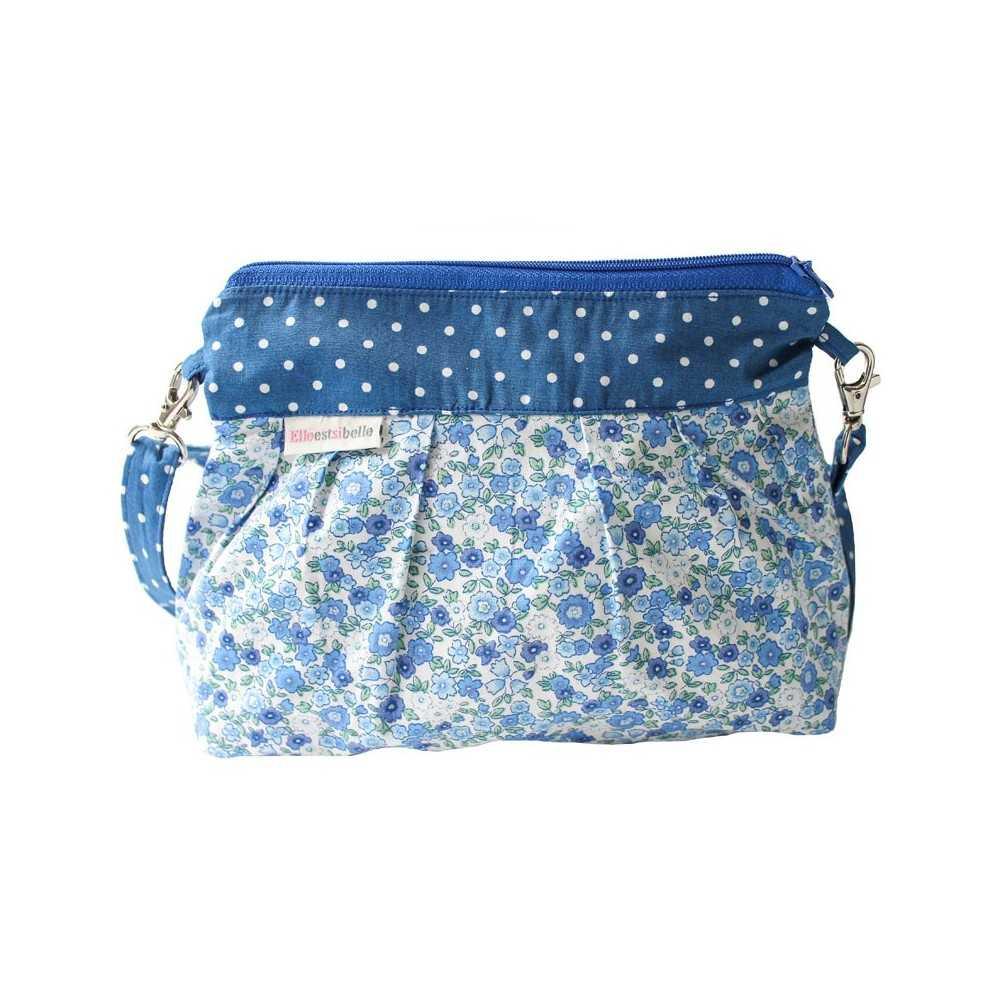 sac bandouli re fille en tissu bleu liberty. Black Bedroom Furniture Sets. Home Design Ideas