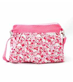 Sac bandoulière fille rose liberty