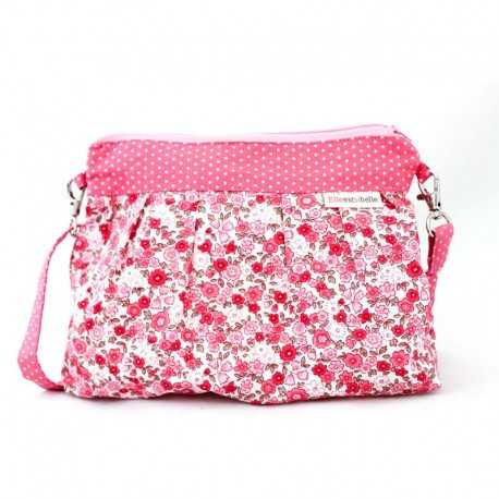 Sac bandoulière fillette liberty rose