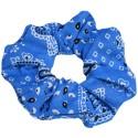 Chouchou bandana bleu