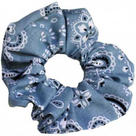 Chouchou bandana gris