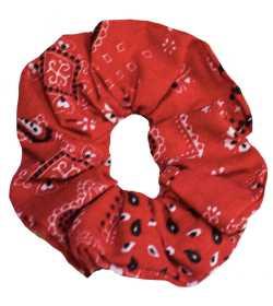 Chouchou bandana rouge