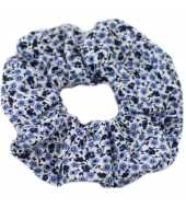 Chouchou liberty bleu et lavande