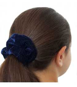 Chouchou en velours bleu marine