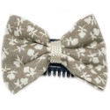 Barrette anti glisse liberty taupe