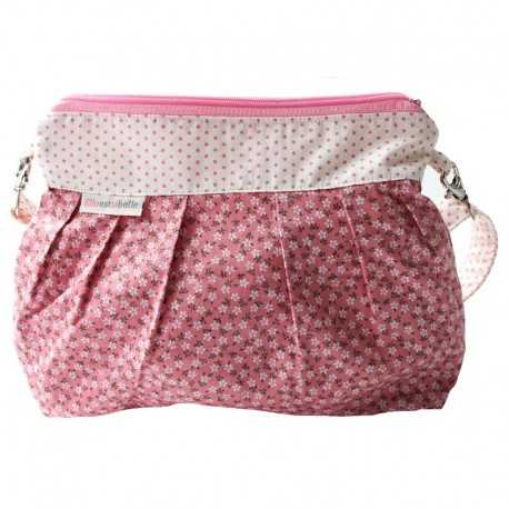 Sac bandoulière fillette liberty rose pâle