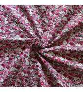 Tissu coton esprit liberty rose
