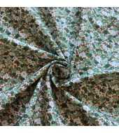 Tissu coton esprit liberty vert