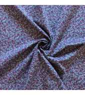 Tissu coton esprit liberty mauve et bleu