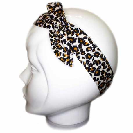 Bandeau cheveux imprimé léopard