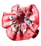 Chouchou rouge motif fantaisie