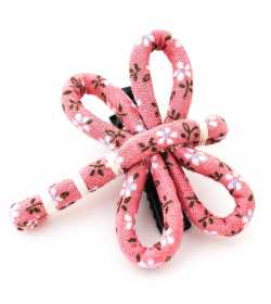 Barrette fantaisie libellule liberty rose pâle