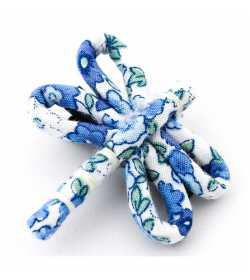 Barrette fantaisie libellule liberty bleu