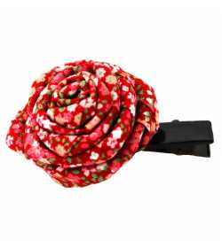Barrette rose liberty rouge