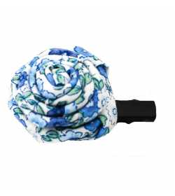 Barrette rose liberty bleu