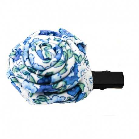 Barrette originale rose liberty bleu
