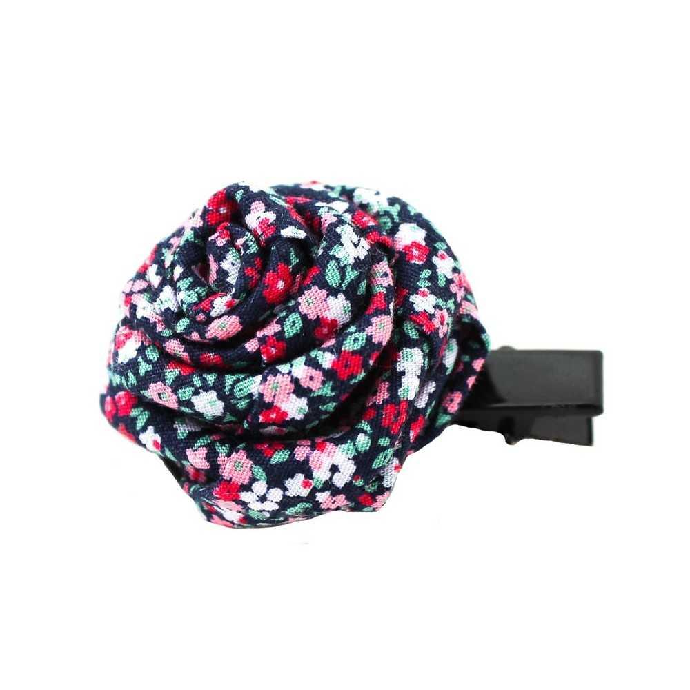 barrette originale en forme de rose couleur mauve rose bleu. Black Bedroom Furniture Sets. Home Design Ideas