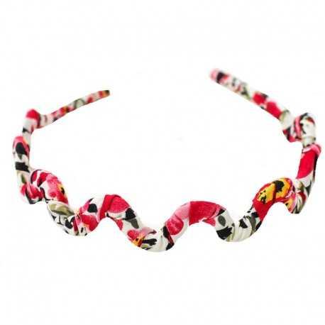 Serre-tête zig-zag rouge et blanc